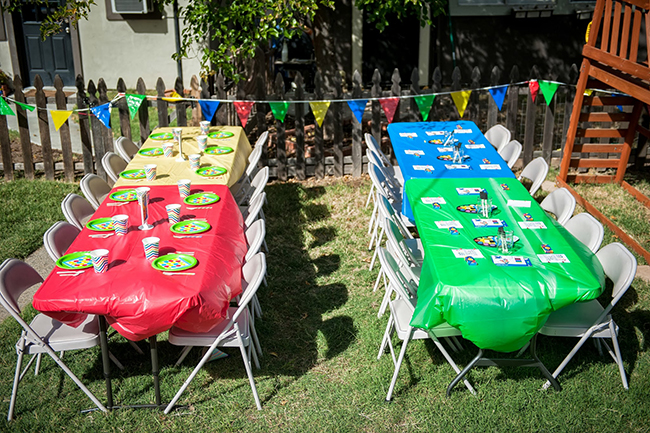 Pop art theme birthday party decor