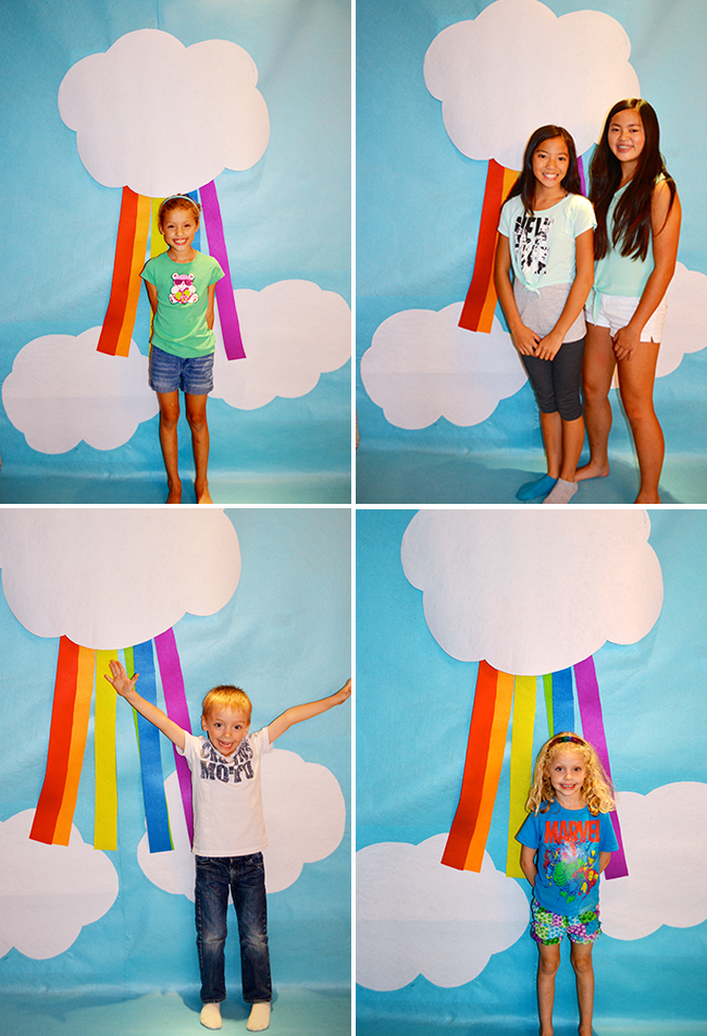 DIY rainbow photo booth backdrop