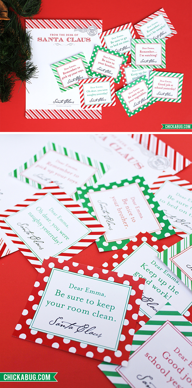 picture regarding Elf on the Shelf Printable Notes identified as Contemporary inside the keep: Custom made notes versus Santa Chickabug