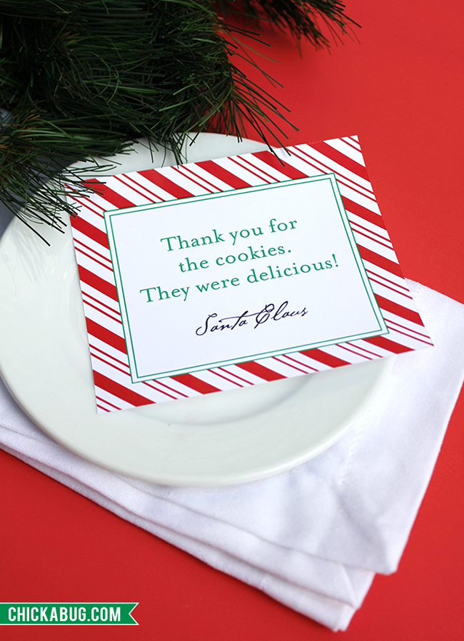 """Personalized printable notes from Santa, plus """"From the Desk of Santa Claus"""" stationery. LOVE these! www.chickabug.com"""