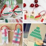Washi tape Christmas crafts
