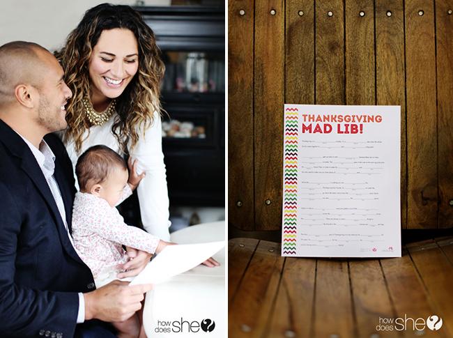 Free printable Mad Lib for Thanksgiving!