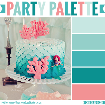 Party palette: Color inspiration for an mermaid party #colorpalette