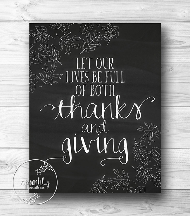 Printable Thanksgiving art by SpoonLily - spoonlily.etsy.com