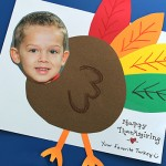 """Turkey yourself! An adorable DIY card for Thanksgiving. """"Happy Thanksgiving from your favorite turkey"""" : )"""