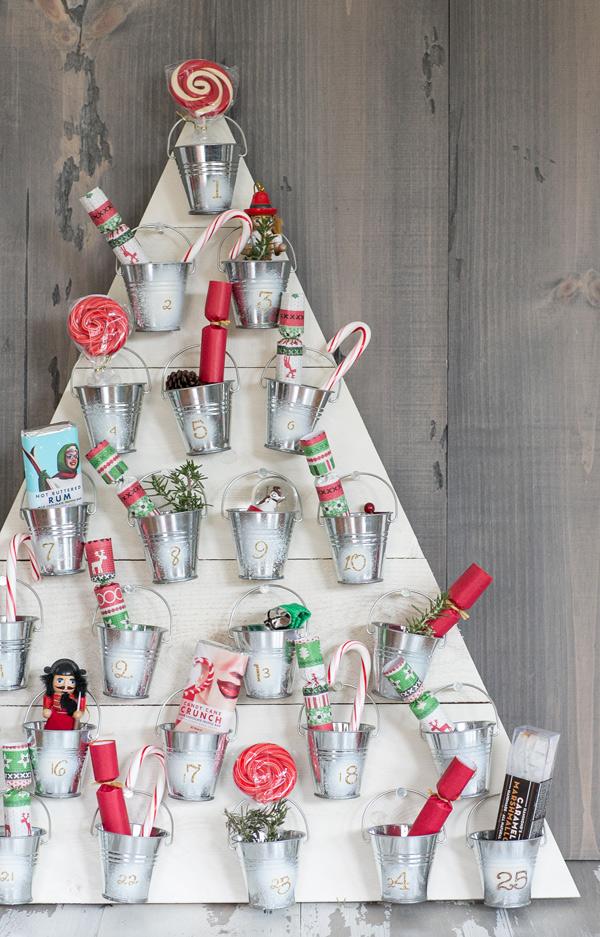 DIY wooden advent calendar by Sugar and Charm