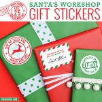 Santa's Workshop Gift Stickers - these adorable stickers make your packages look like they came straight from the North Pole! From Chickabug.com