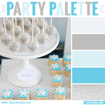 Party Palette: Color inspiration for a winter wonderland party #colorpalette