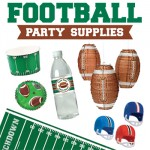 Football party supplies - fun decorations for a tailgate, the Super Bowl, or a football theme birthday party!