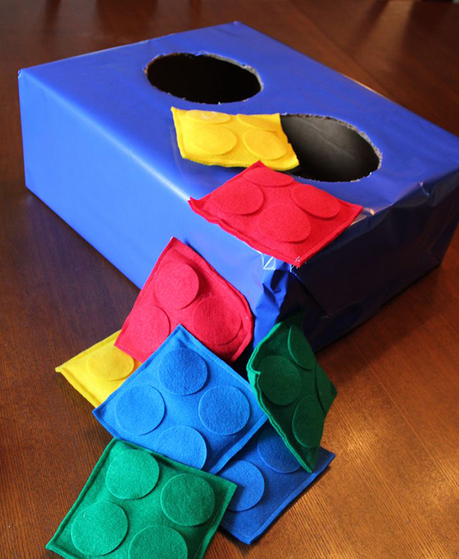 LEGO® beanbag toss party game