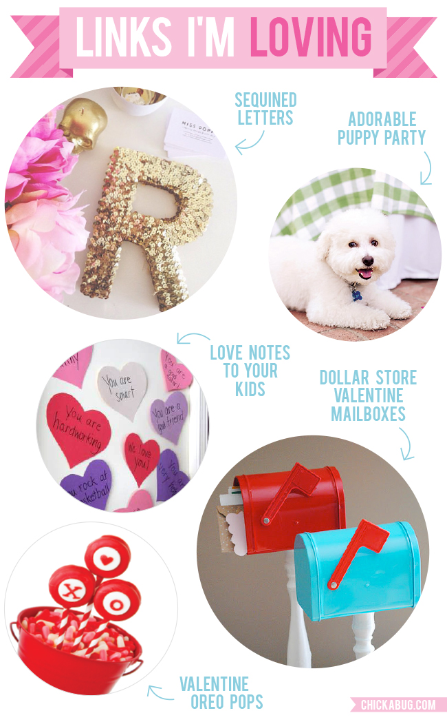 Links I'm Loving: Glitter letters, puppy party, and more!