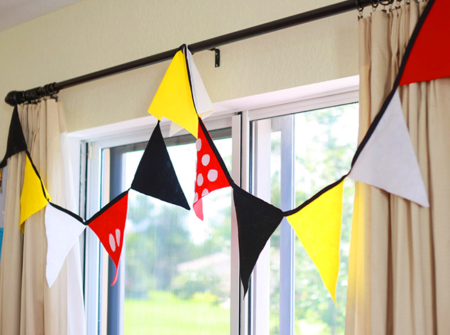 Mickey Mouse DIY birthday bunting