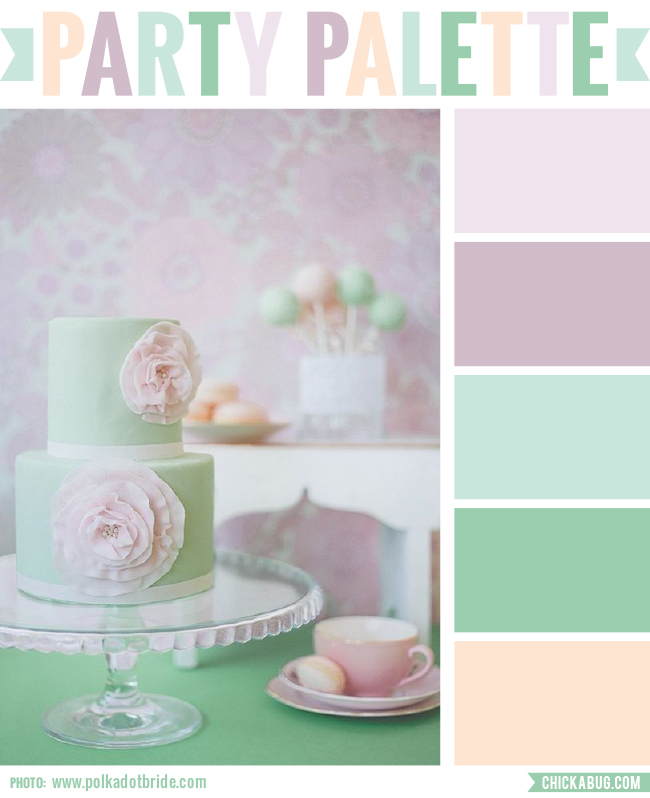 Party Palette Sea Green Cake Chickabug