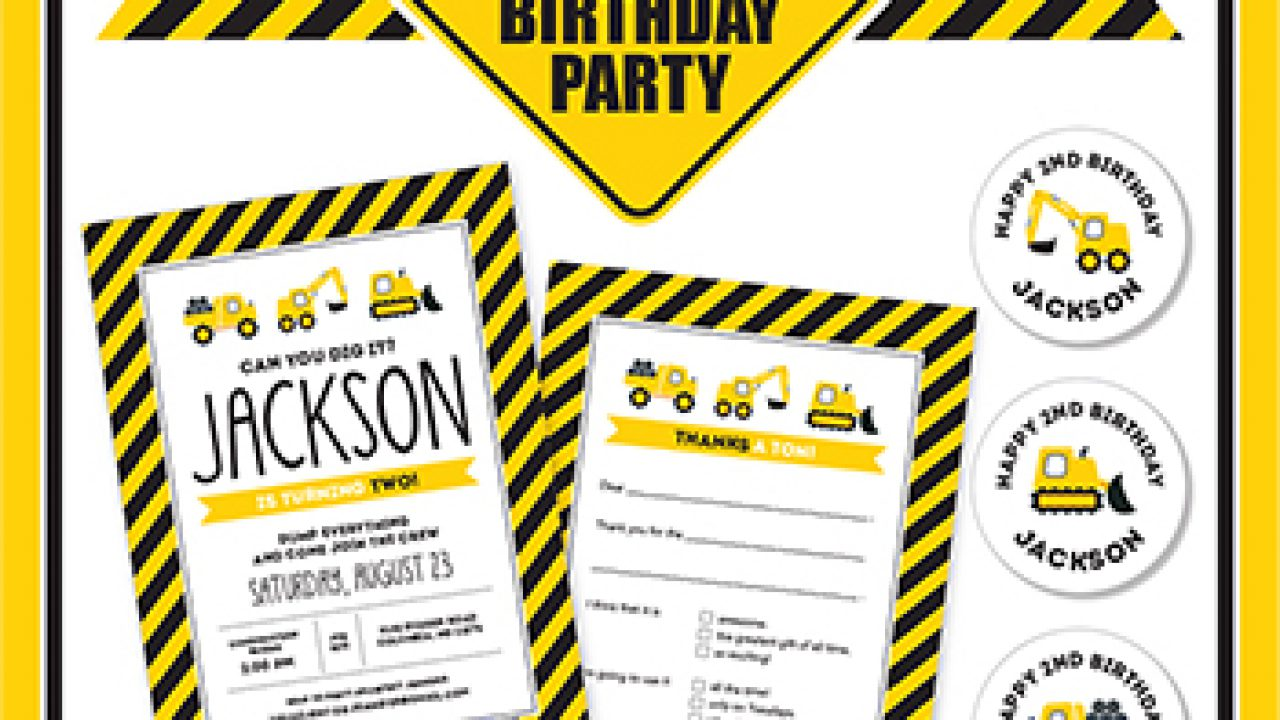 graphic about Free Printable Construction Party Signs known as Composition concept bash