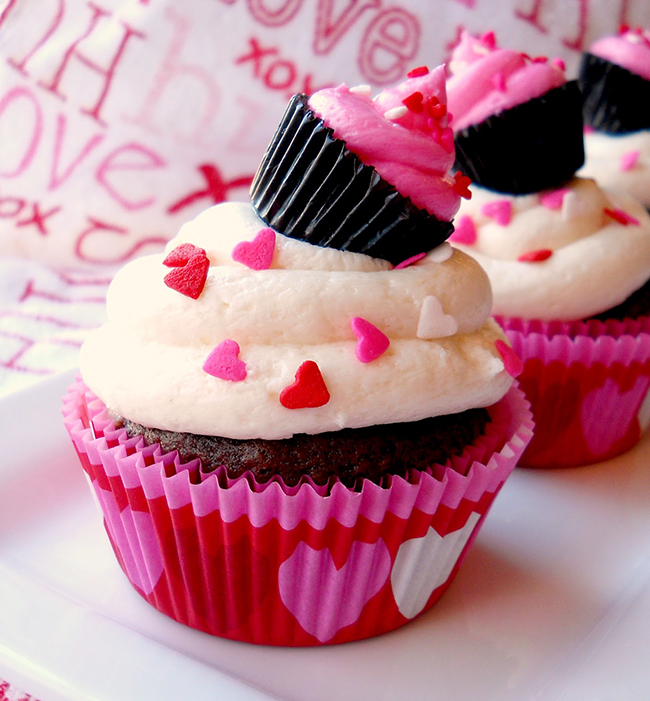 Cupcakes with a cupcake on top. Cutest thing ever!