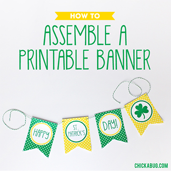 How to assemble a printable banner