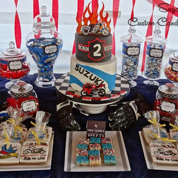 Motorcycle theme birthday party