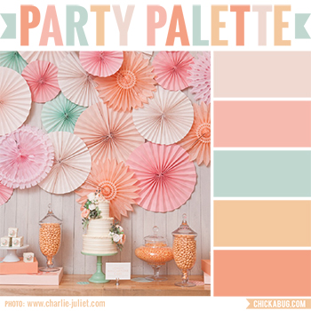 Party Palette: Peach brunch dessert table #colorpalette