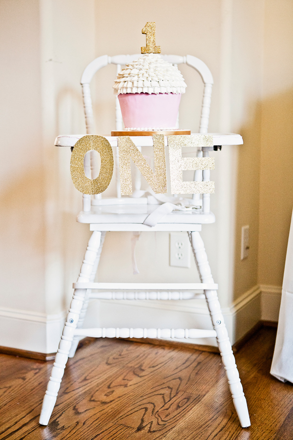 Sweet pink and gold first birthday party fit for a princess!