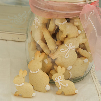 Sweet little Easter bunny cookies