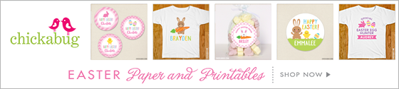 Personalized Easter products from Chickabug! SO CUTE!