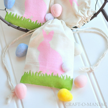 DIY Easter bunny favor bags
