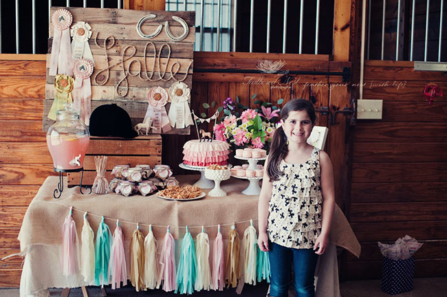 Gorgeous rustic equestrian theme birthday party