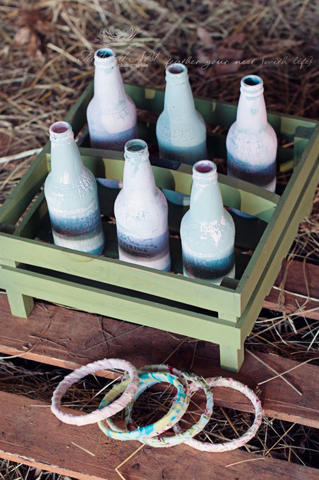 Gorgeous rustic equestrian theme birthday party - ring toss game