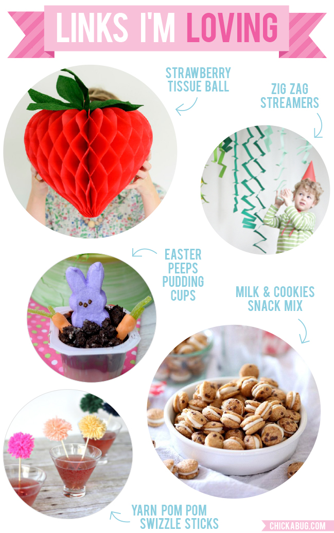 Links I'm Loving: Strawberry tissue ball, streamers, Peeps pudding cups, and more!