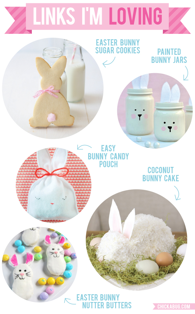 Links I'm Loving: Cute bunny recipes and crafts for Easter