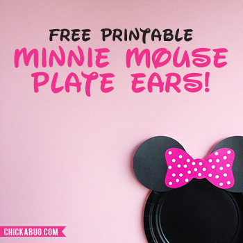 graphic about Printable Minnie Mouse Ears referred to as No cost printable Minnie Mouse ears for plates - very hot crimson, child