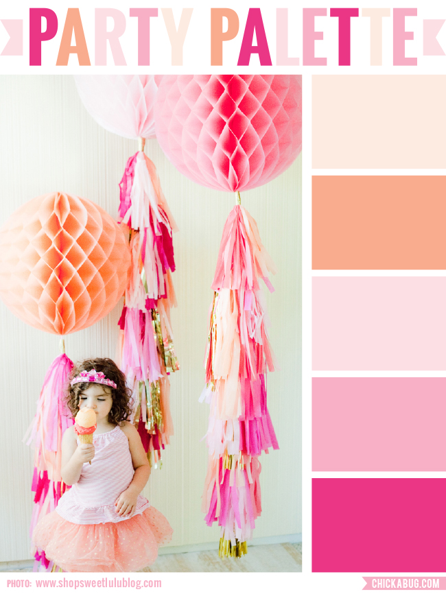 Party Palette: Party inspiration in warm corals and pinks #colorpalette