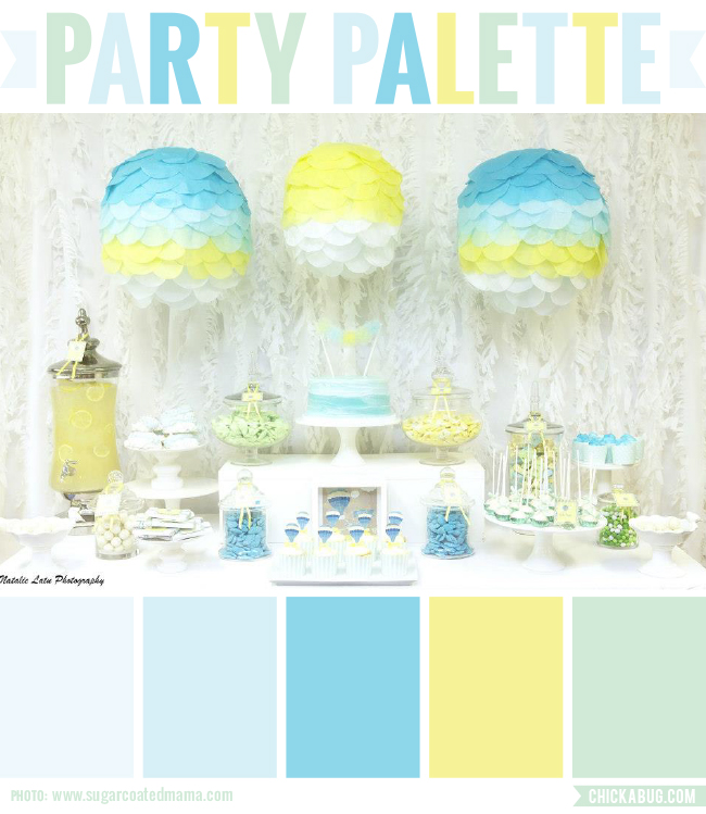 Party Palette: Party inspiration in blues and yellow #colorpalette