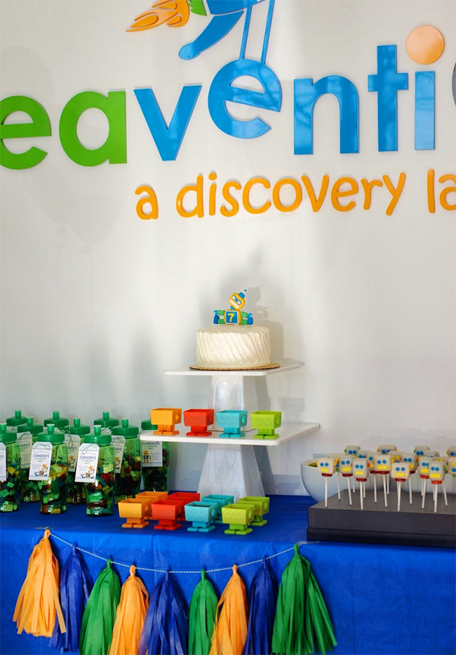 Robot birthday party - a bright and creative birthday theme for boys!