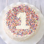 Simple sprinkle cake for a birthday party - LOVE