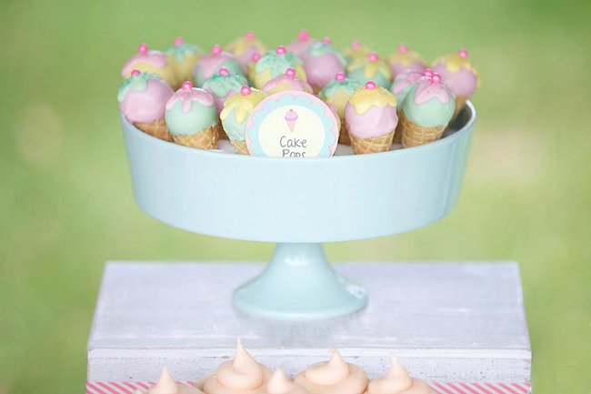 Gorgeous pastel ice cream shoppe party