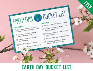 Free printable Earth Day bucket list