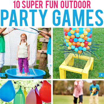 10 super fun outdoor party games!