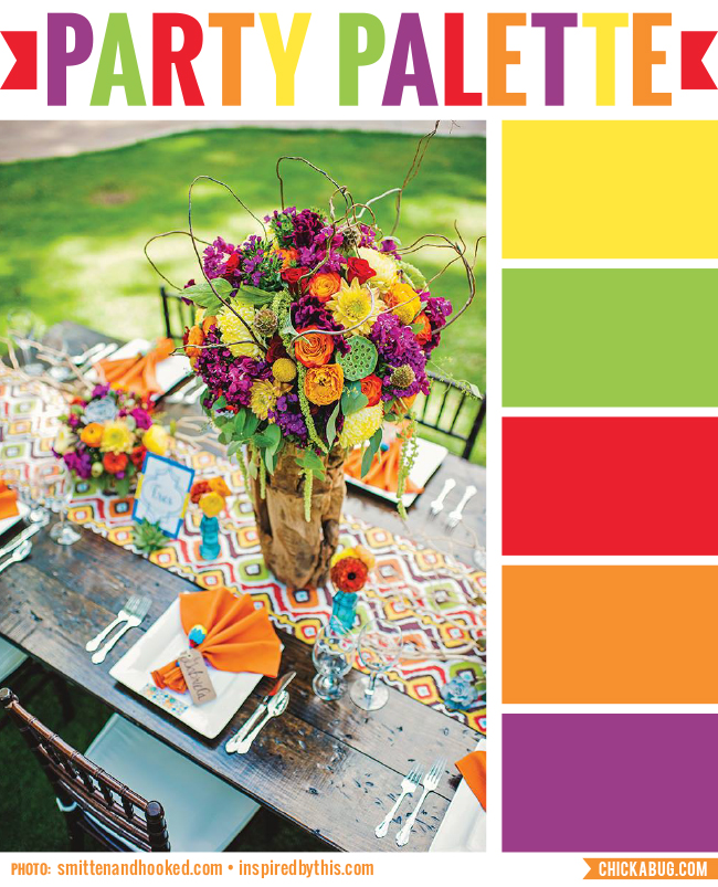 Party Palette: Fiesta-worthy brights! #colorpalette