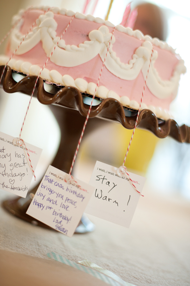 Birthday wishes - each guest writes a wish and ties it to a candle