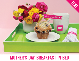 Free printable Mother's Day breakfast in bed