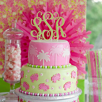 Outstanding One Pretty Pin Lilly Pulitzer Birthday Cake Chickabug Birthday Cards Printable Opercafe Filternl
