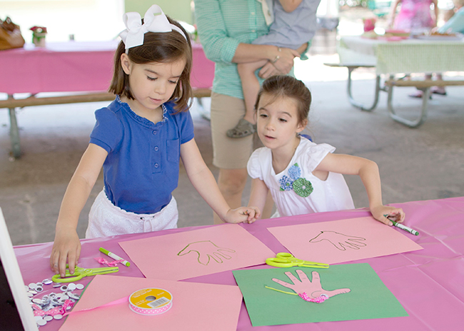 Lilly Pulitzer elephant themed first birthday party - make your own elephant craft