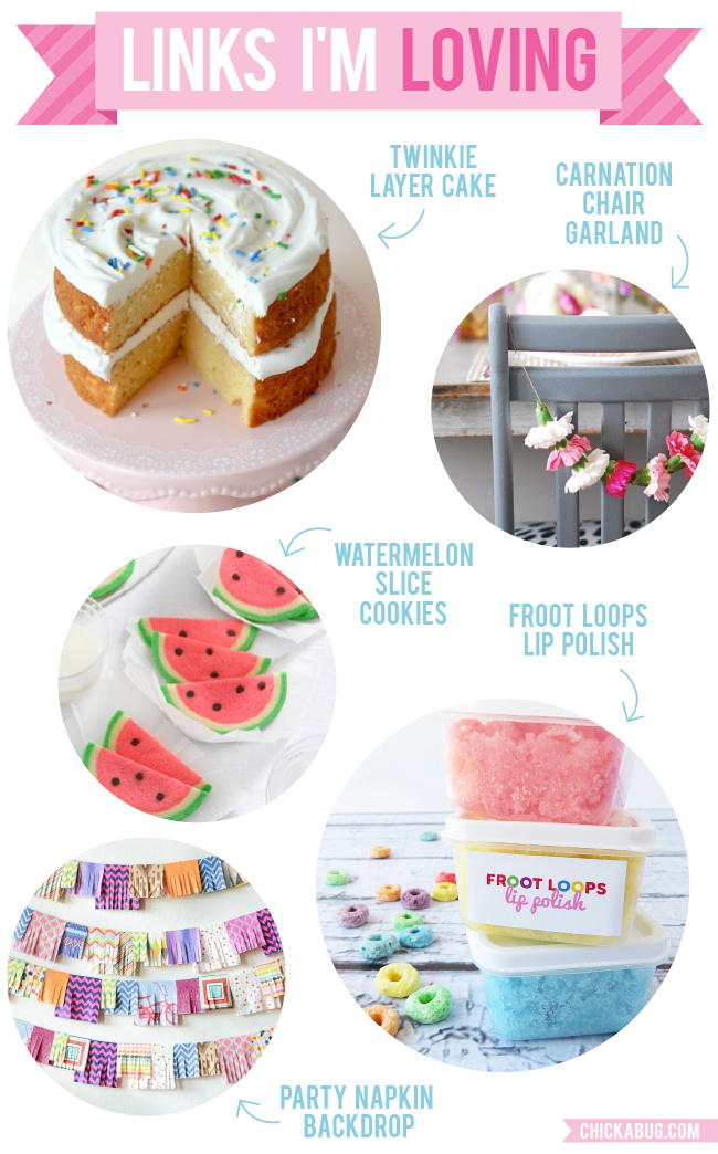 Links I'm Loving: Twinkie cake, carnation garlands, and more!