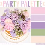 Party Palette: Color inspiration in pastel pink, peach, purples and green #colorpalette