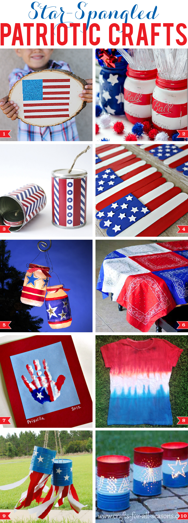 Star-spangled patriotic crafts