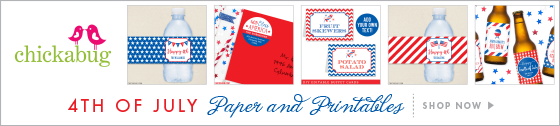 Personalized 4th of July party supplies from Chickabug!