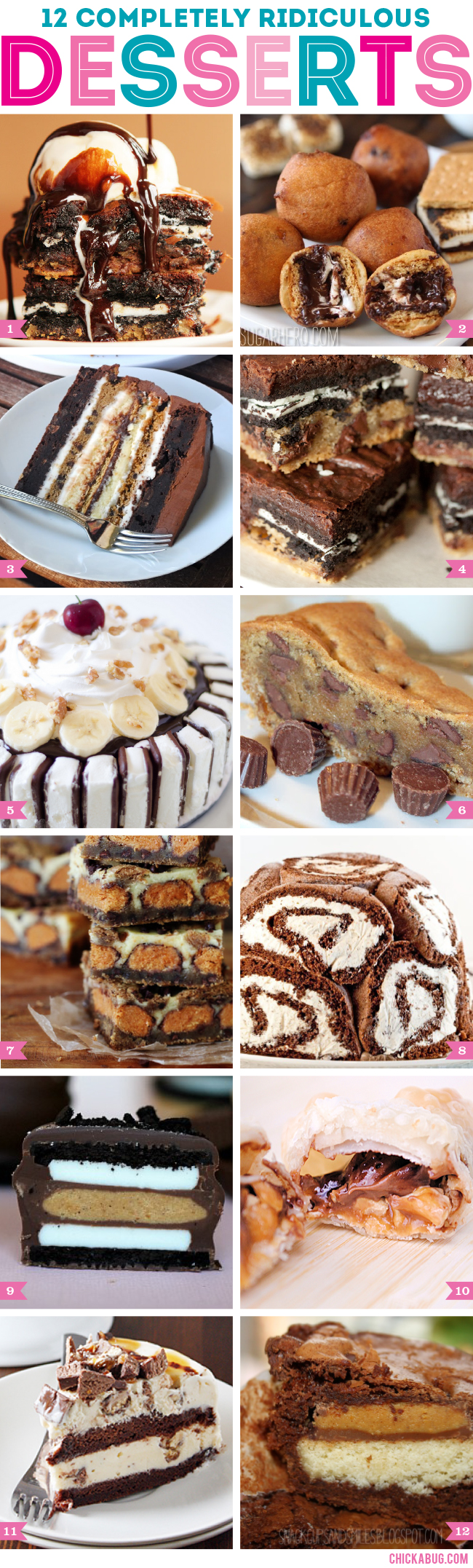 12 completely ridiculous desserts (ridiculously DELICIOUS!!)