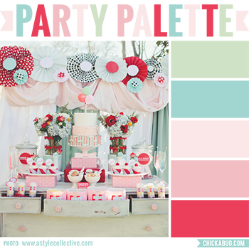 Party Palette: Boardwalk carnival party #colorpalette