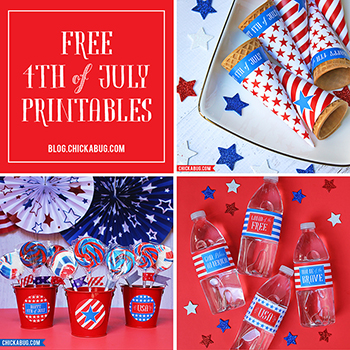 Free 4th of July printables from Chickabug